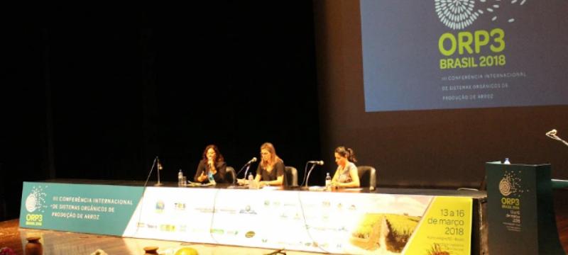 Labgrãos presente na III Conferência Internacional de Sistemas Orgânicos de Produção de Arroz